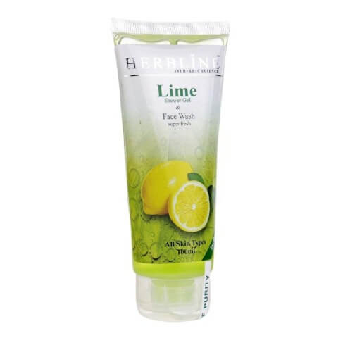Herbline Lime Face Wash,  100 ml  for All Skin Types