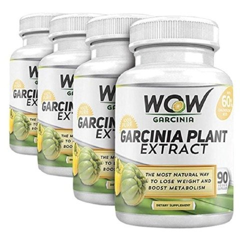 WOW Garcinia Plant Extract - Pack of 4, 90 veggie capsule(s)