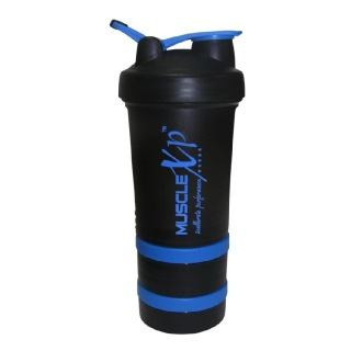 MuscleXP Advanced Stak Protein Shaker For Professionals,  Black & Blue  500 Ml