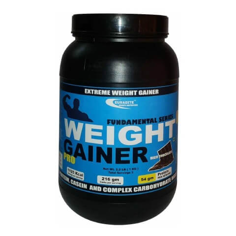 Euradite Nutrition Weight Gainer Pro,  Rich Chocolate  6.6 lb
