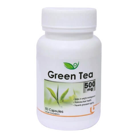 Biotrex Green Tea (500 mg),  60 capsules  Unflavoured
