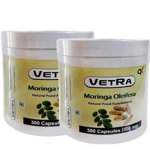 Vetra Moringa Oleifera - Pack of 2 300 capsules