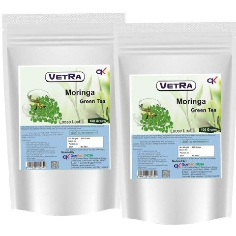 Vetra Moringa Green Tea Loose Leaf - Pack of 2 0.1 kg Unflavoured