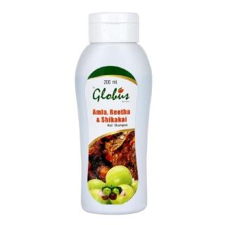 Globus Amla Reetha & Shikakai Shampoo,  200 ml  All Hair Type
