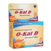 Okal D Calcium and Vitamin D3,  Orange  20 tablet(s)