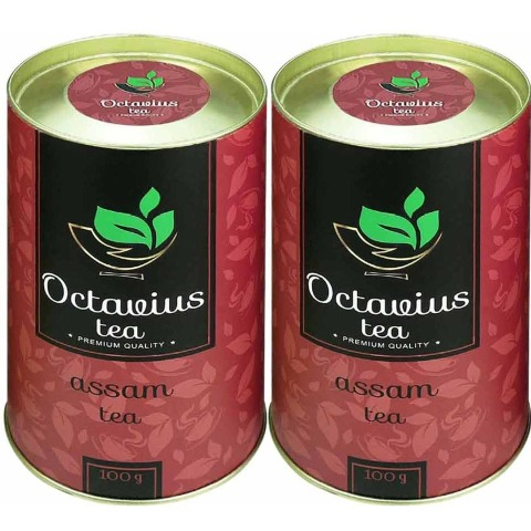 Octavius Whole Leaf Assam Tea - Pack of 2 Unflavoured 0.1 kg
