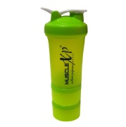 MuscleXP Advanced Stak Protein Shaker for Professionals,  Design 13 Green & White  500 ml