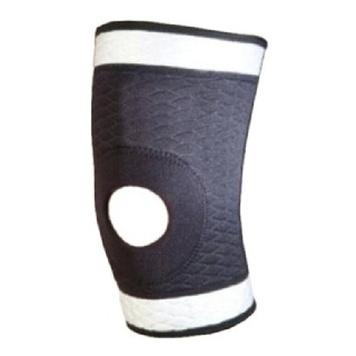 B Fit USA Knee Support (S-6505),  Black & White  Large