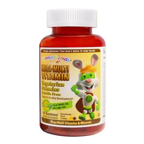 Vitamin Friends Mega-Multi Vitamin,  Cherry Orange  60 gummies