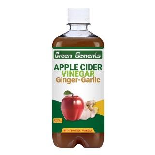 Green Elements Apple Cider Vinegar,  0.5 L  Ginger & Garlic