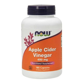 Now Apple Cider Vinegar (450mg),  180 capsules  Unflavoured