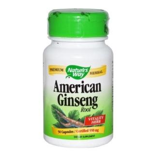 Nature's Way American Ginseng Root,  60 veggie capsule(s)