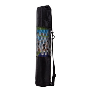 B Fit USA PVC Exercise Printed Yoga Mat with Bag,  Blue  6 mm