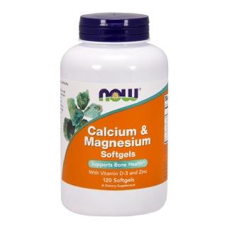 Now Calcium & Magnesium,  120 softgels  Unflavoured