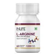 INLIFE L-Arginine 1000 mg,  60 veggie capsule(s)