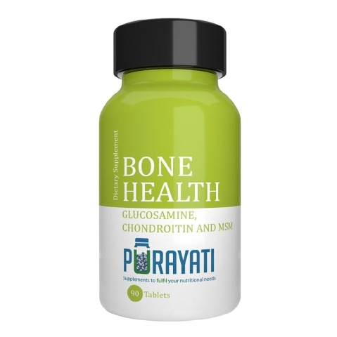 Purayati Bone Health Glucosamine Chondroitin and MSM,  90 tablet(s)
