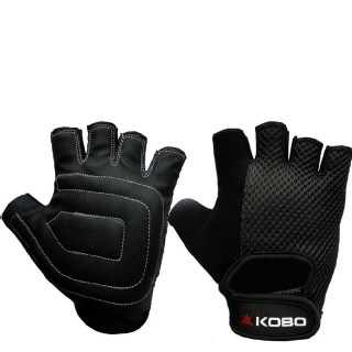 KOBO Ladies Exercise Weight Lifting Gym Gloves (WTG-12),  Black  Small