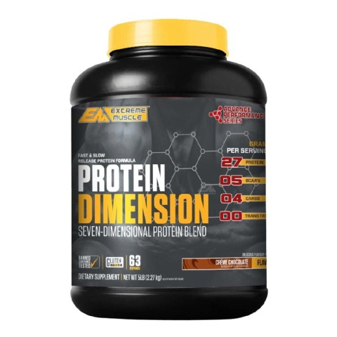 Extreme Muscle Advance Performance Series Protein Dimension,  5 lb  Creme Chocolate