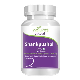 Natures Velvet Shankpushpi Pure Extract (500 mg),  60 veggie capsule(s)