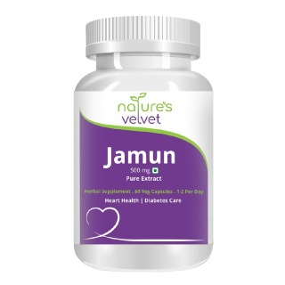 Natures Velvet Jamun Pure Extract (500 mg), 60 capsules