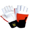 Rocclo Weight Lifting Gloves-5111,  White & Red  Large