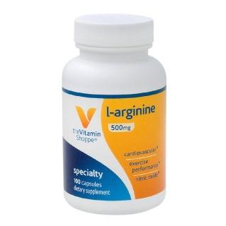 The Vitamin Shoppe L-Arginine 500 mg,  100 capsules