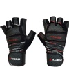 KOBO Gym Gloves (WTG-13),  Black & Red  Large