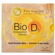 Pure Nutrition Bio D3 Cholecalciferol Granules,  12 sachets/pack  Vanilla