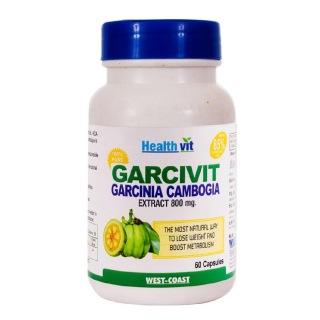 Healthvit Garcivit Garcinia Cambogia 85% HCA (800 mg),  60 capsules