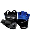 KOBO Gym Gloves (WTG-04),  Blue & Black  Medium