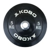 KOBO Bumper Plates 51mm,  Black  5 kg