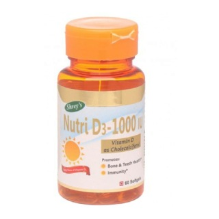 Shrey's Nutri D3 1000 (Vitamin D3),  60 softgels