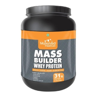 Mahaved Mass Builder Whey Protein,  1.1 lb  Chocolate