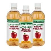 Green Elements Apple Cider Vinegar,  0.5 L  Natural (Pack of 3)