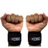 KOBO Gym Wrist Straps with Metal Loop (WTA-31),  Black  Free Size