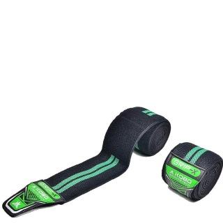 KOBO Knee Wraps Bandages (WTA-10),  Green  Free Size
