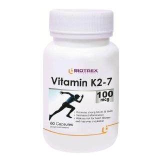 Biotrex Vitamin K2-7 (100 mcg),  Unflavoured  60 capsules