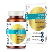 HealthKart Ultra Omega 3 Triple Strength with 425 EPA 325 DHA,  90 capsules