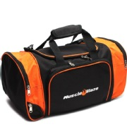 MuscleBlaze Gym Bag,  Black With Orange  Side Bag