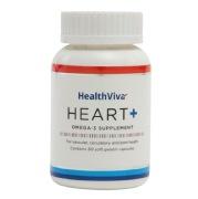 HealthViva Heart+ (Omega Fish Oil Supplement),  60 Softgels